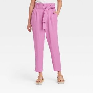 New a new day paper bag ankle pants high rise XS